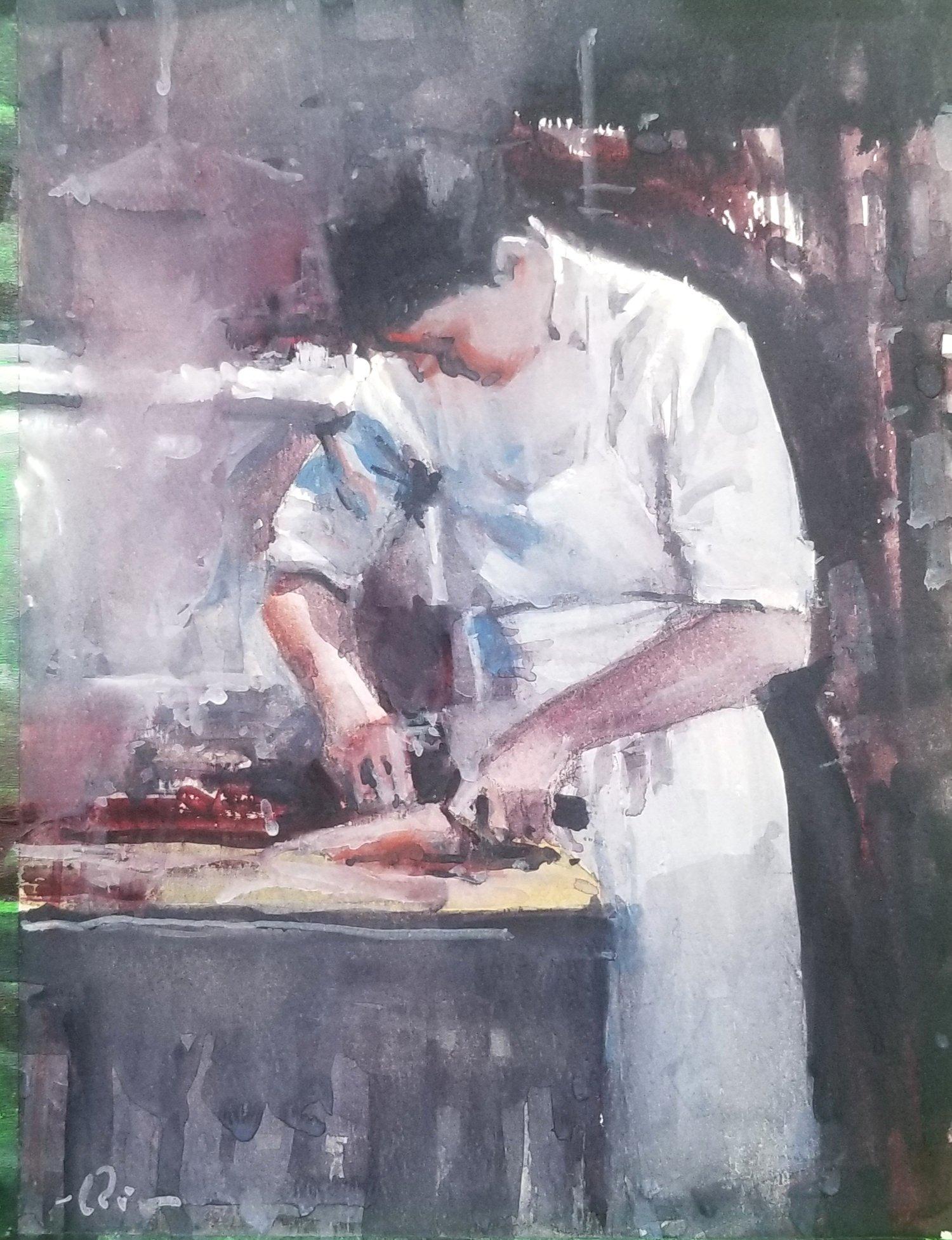 Image of Valentine Chef print