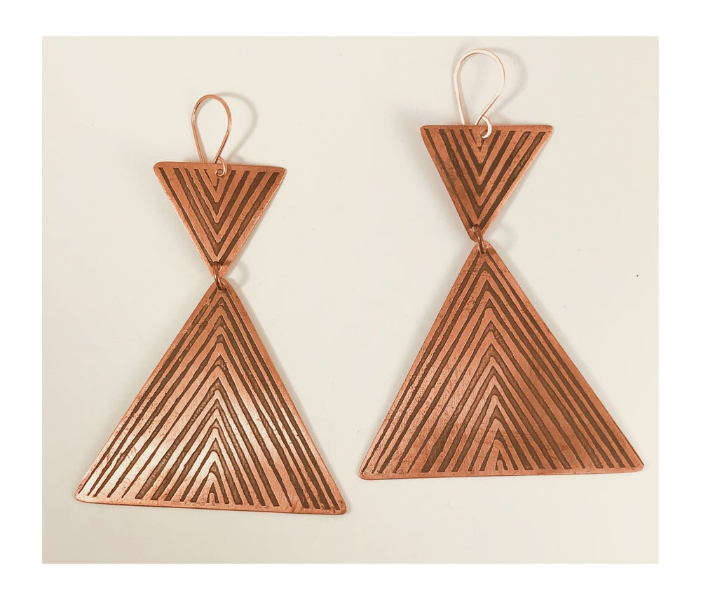 Image of Copper Haystack Earrings