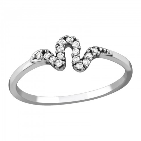 Image of Colchis crystal snake ring (sterling silver)