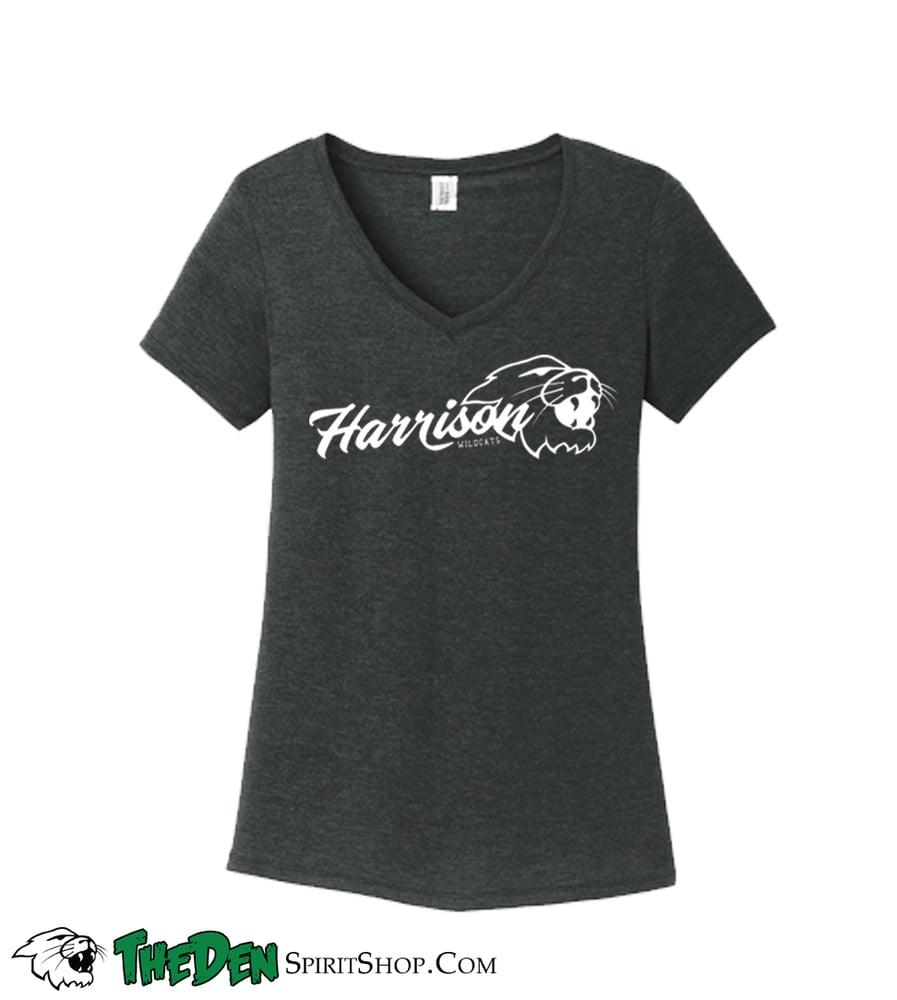 Image of Women's Script Harrison, Vneck Tshirt
