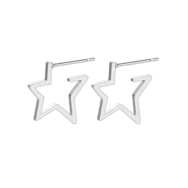 Image of Shudyr star stud earrings (stainless steel)