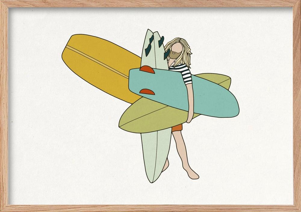 Image of SURF ART PRINT - 'BIGQUIVER'