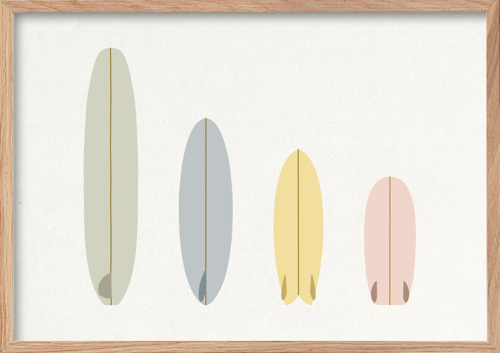 Image of Surf Art Print - 'MELLOW VIBES QUIVER'