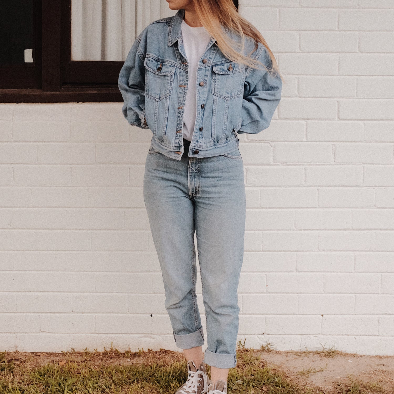 Image of 50% OFF Girl Gang Preloved Denim Jacket