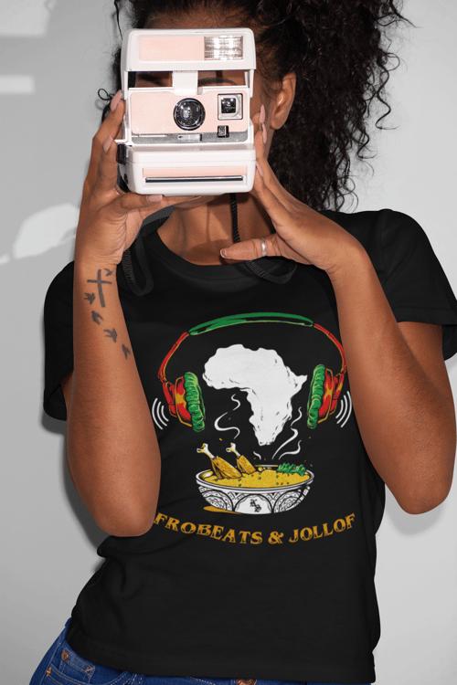 Image of Afrobeats and Jollof T-shirt (Black)