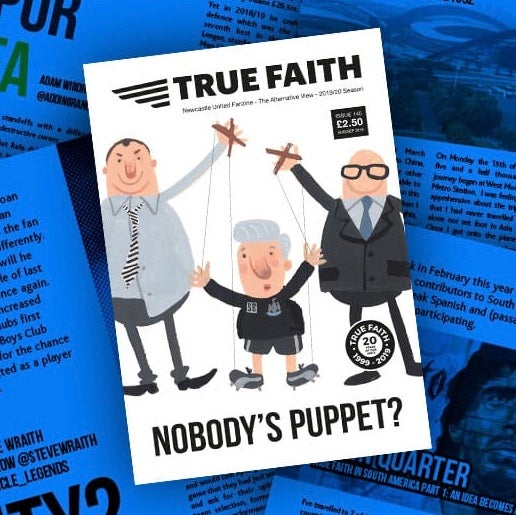 Image of (BACK COPY) TRUE FAITH ISSUE 145 GLOSSY PAPERBACK NEWCASTLE UNITED FANZINE