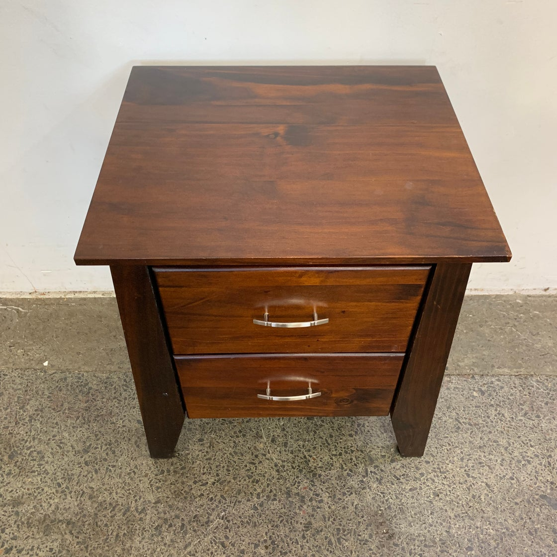 Image of DARK STAINED BEDSIDE
