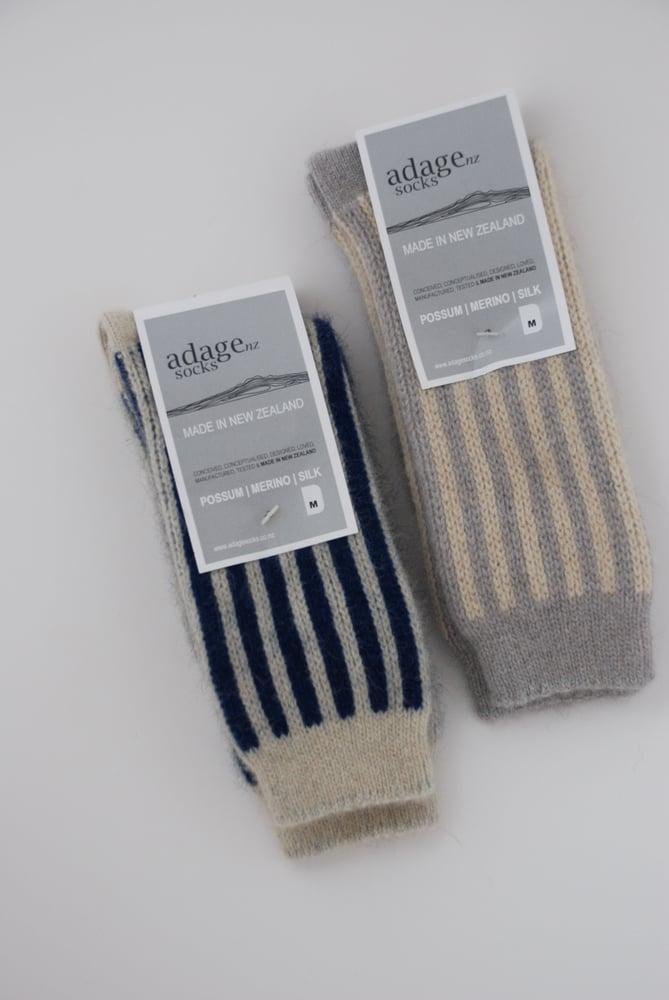 Image of Luxury Possum Adult Socks – Candy Stripes - $40