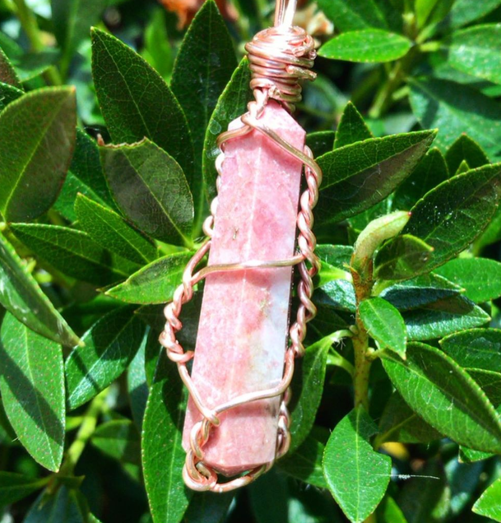 Image of FIRENZA RHODONITE NECKLACE