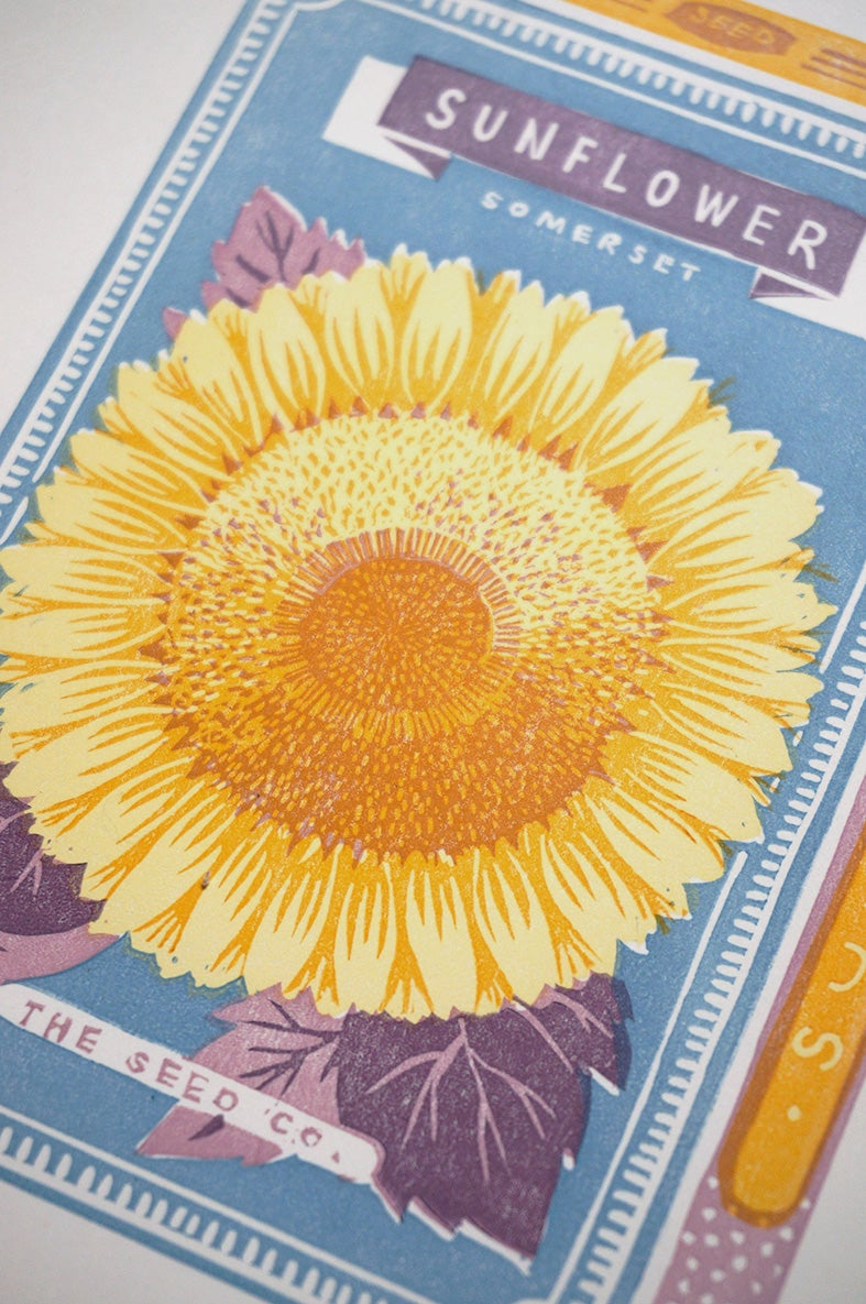 Image of July Print - Sunflower