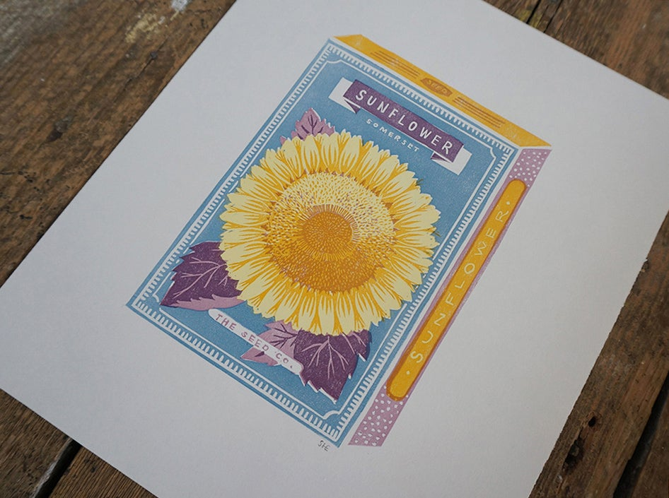 Image of July Print - Sunflower
