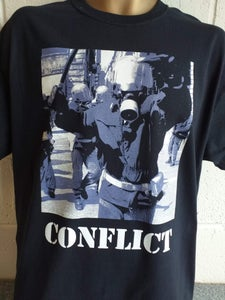 Image of CONFLICT Angry Cop Colour Tshirt