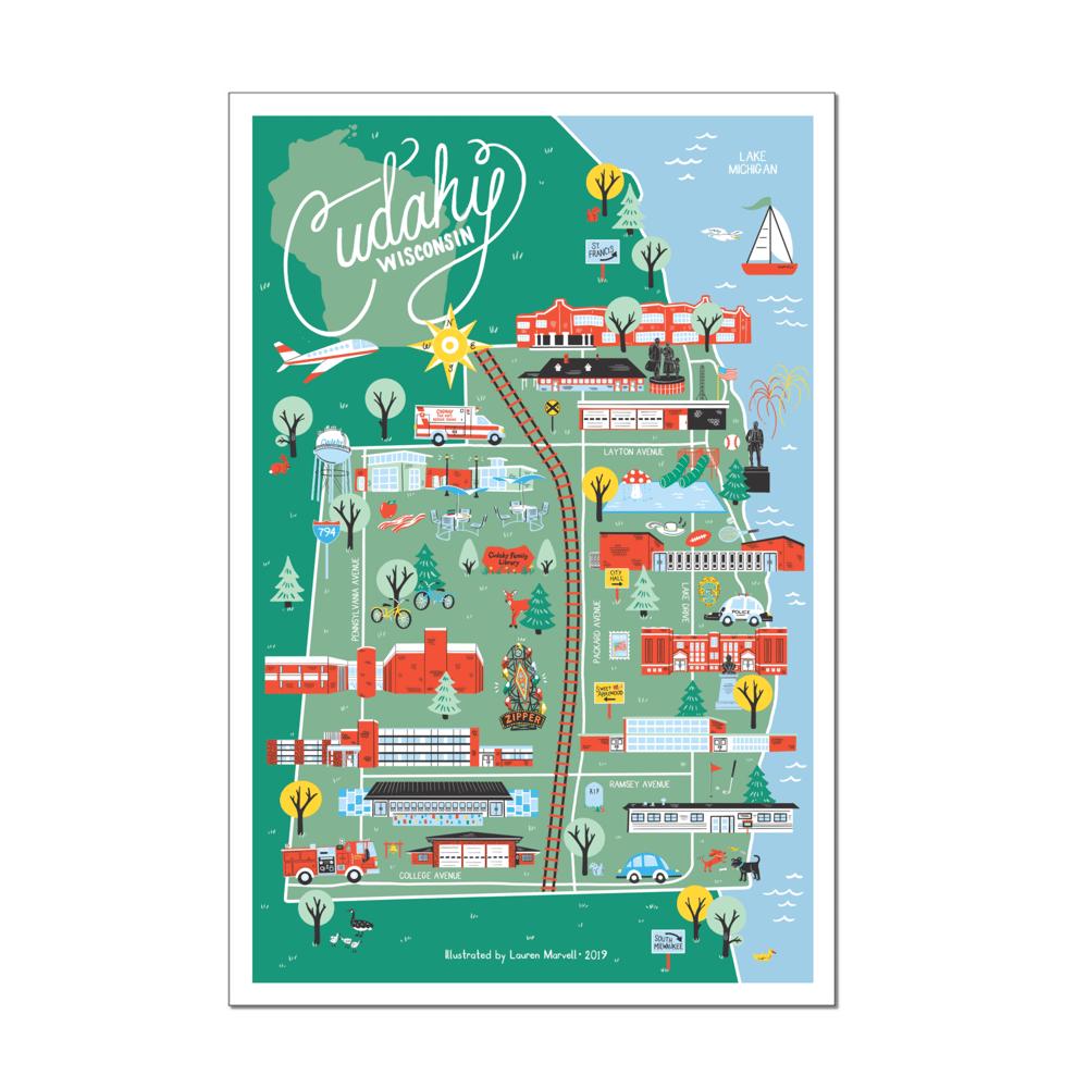 Image of Cudahy, WI MAP