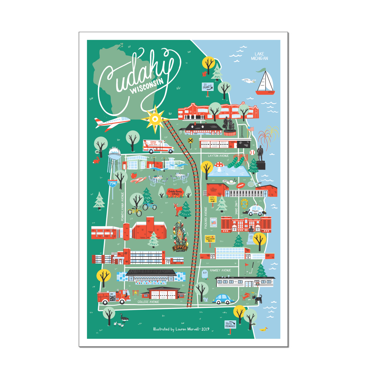Image of Cudahy, WI MAP