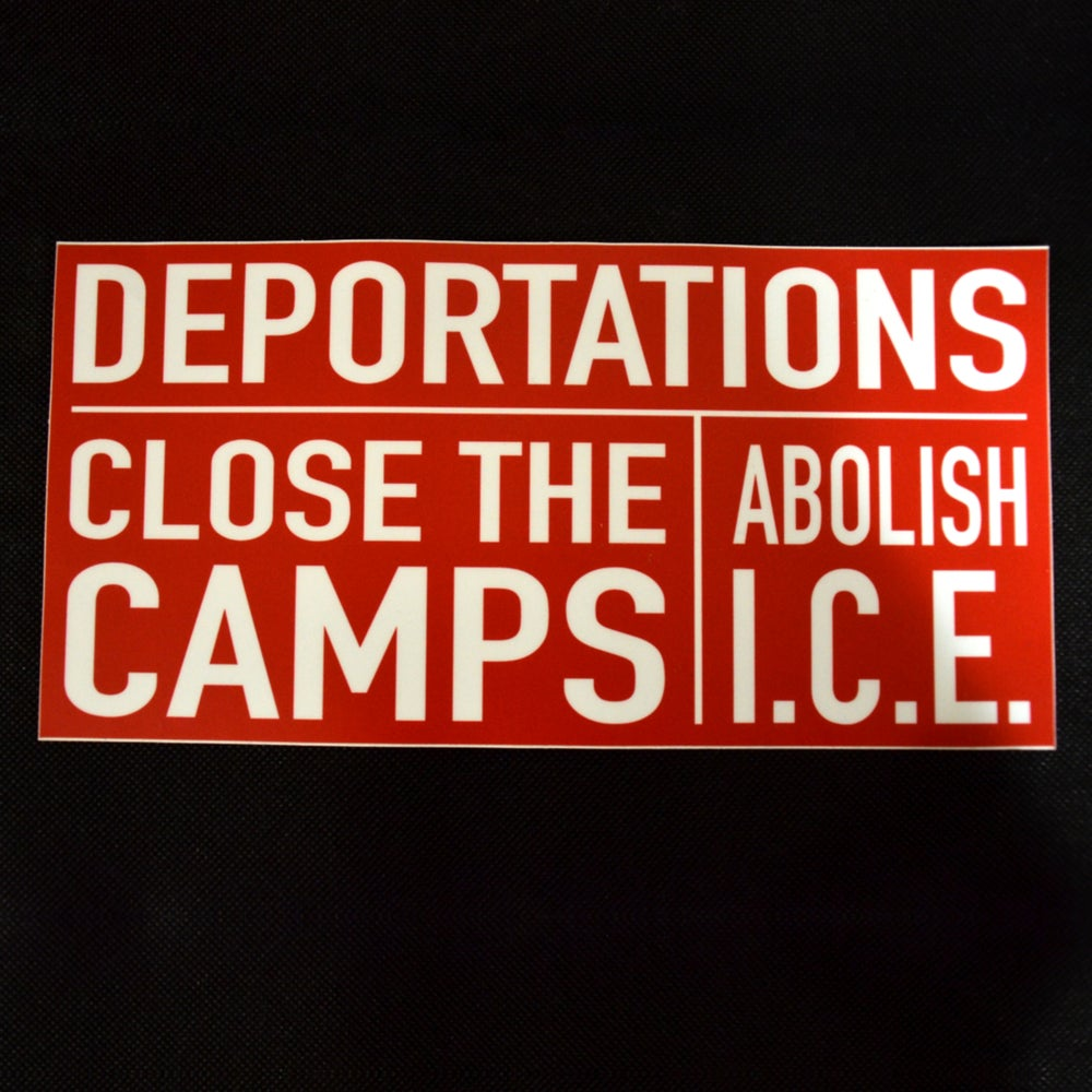 Image of Stop Deporations sticker