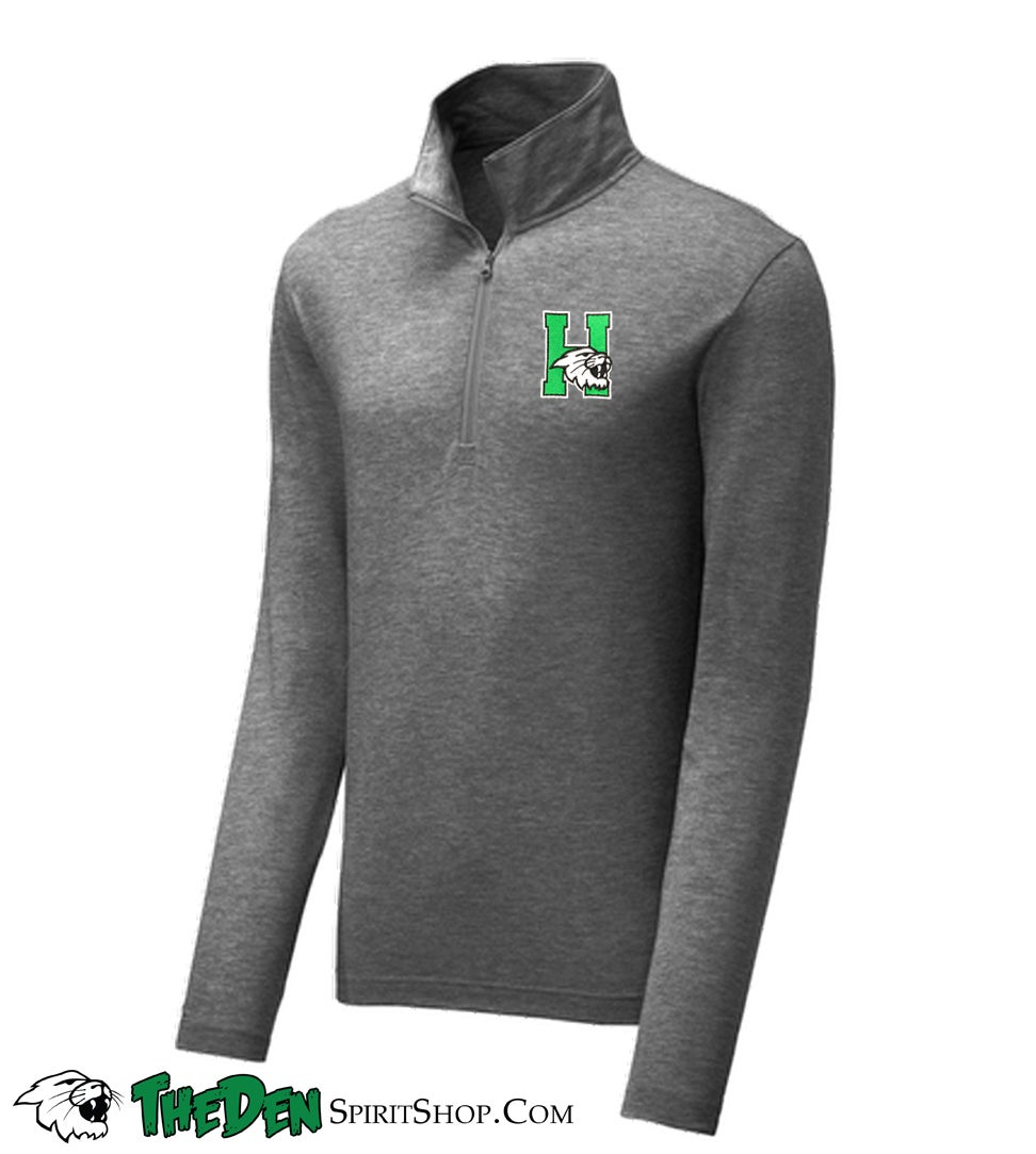 Image of Embroidered 1/4 Zip Pullover, Men's