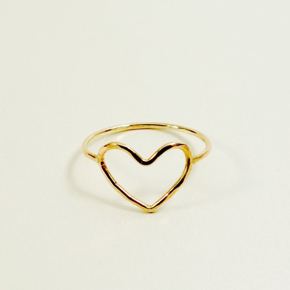 Image of love heart ring