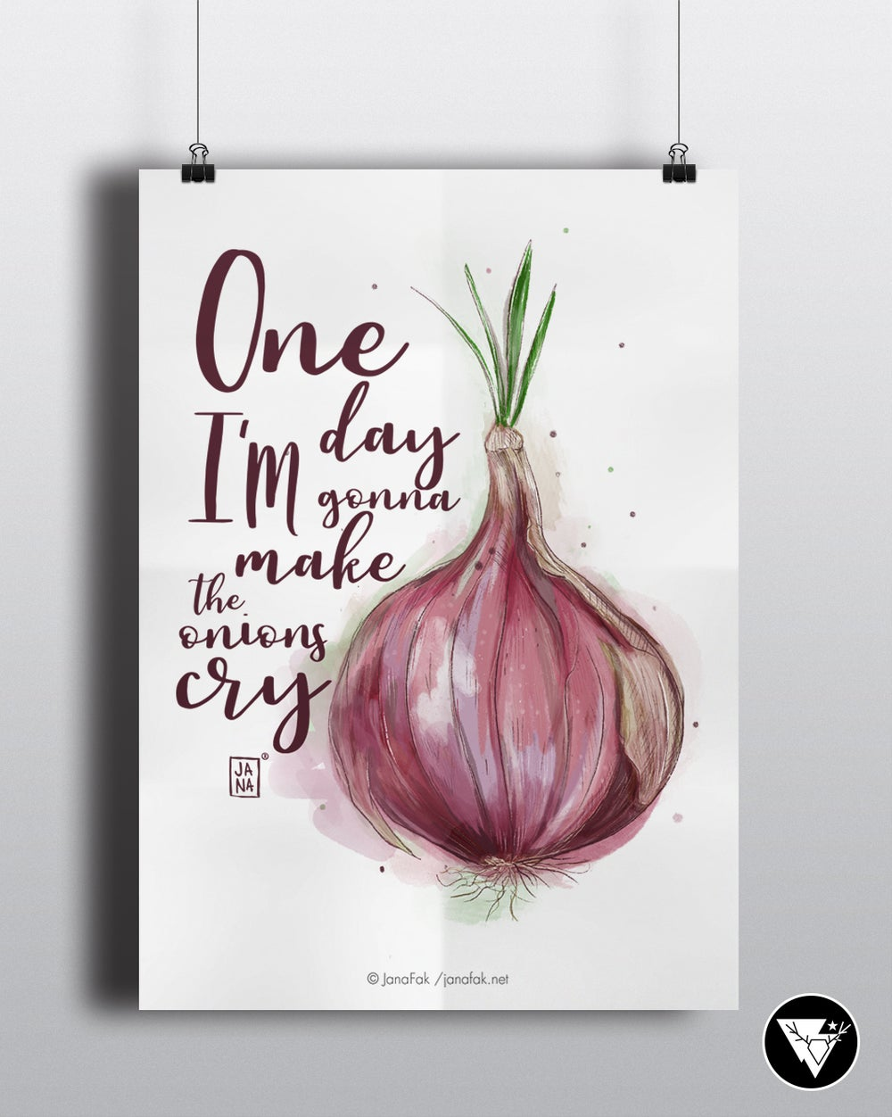 Image of Onions cry /art print