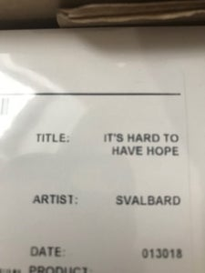Image of SVALBARD - IT'S HARD TO HAVE HOPE TEST PRESS