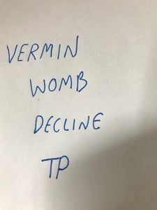 Image of VERMIN WOMB - DECLINE TEST PRESS