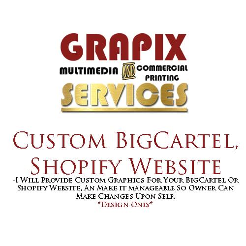 Image of Custom BigCartel & Shopify Website