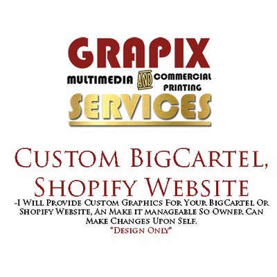 Image of Custom BigCartel & Shopify Website
