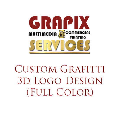 Image of Custom Graffiti 3D Logo Design