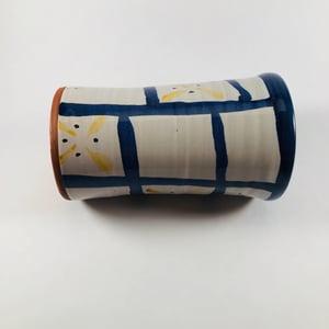 Image of Damariscotta Pottery Hand Painted Ceramic Vase