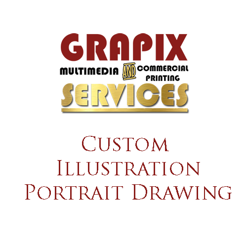 Image of Custom Illustration Portrait Drawing