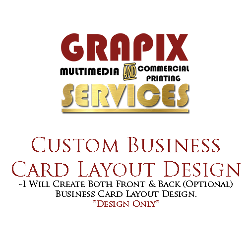 Image of Business Card Layout Design