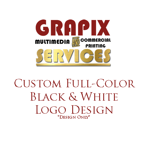 Image of Custom Full Color Black & White Logo Design