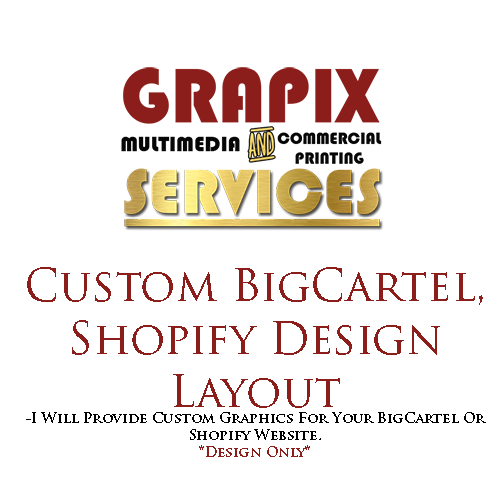 Image of Custom BigCartel, Shopify Design Layout
