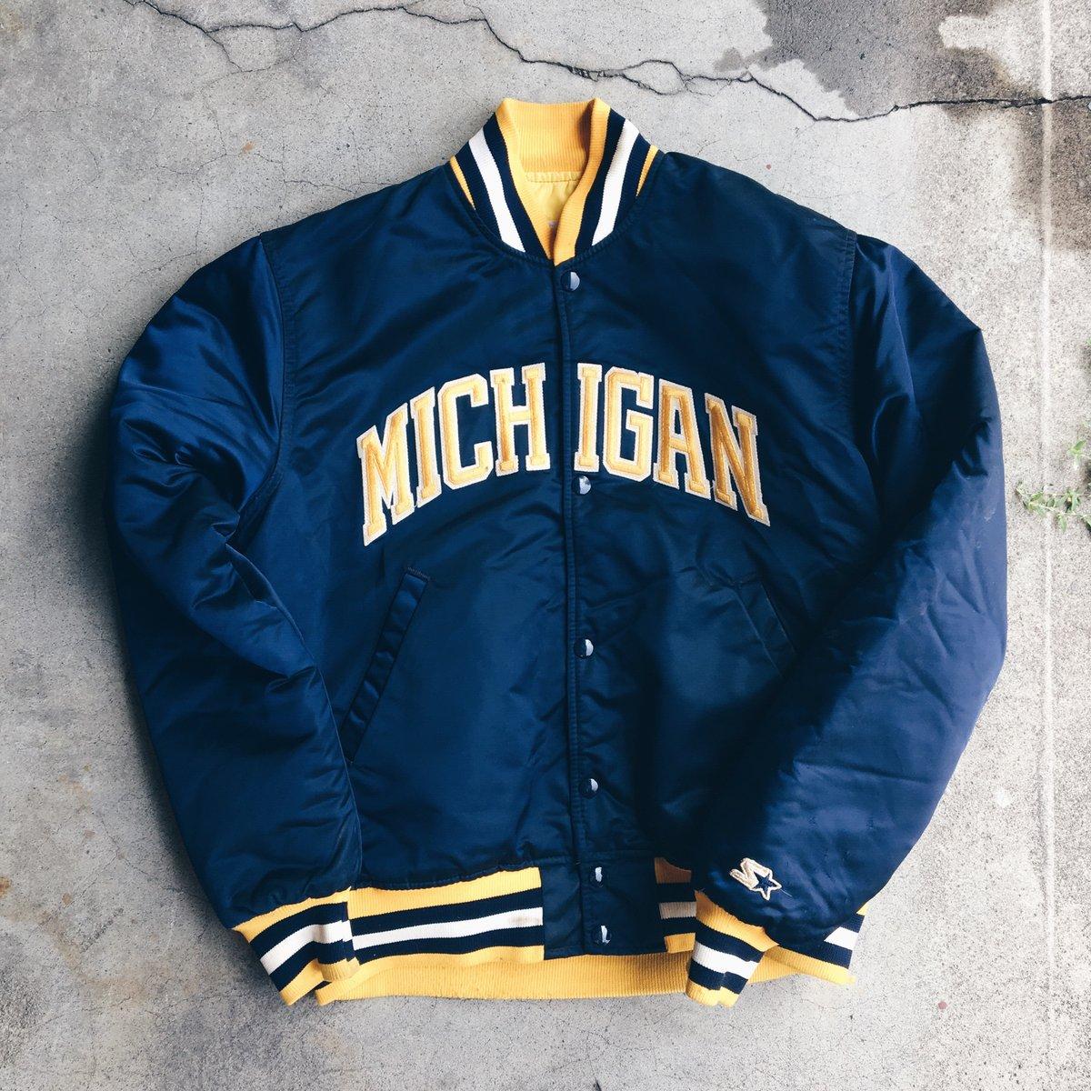 Image of Original 80's Starter Made In USA Michigan Satin Jacket.