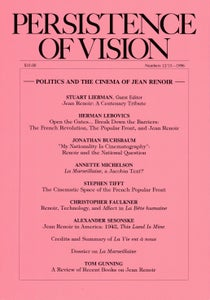Image of Persistence of Vision No. 12/13: Politics and the Cinema of Jean Renoir (1996)