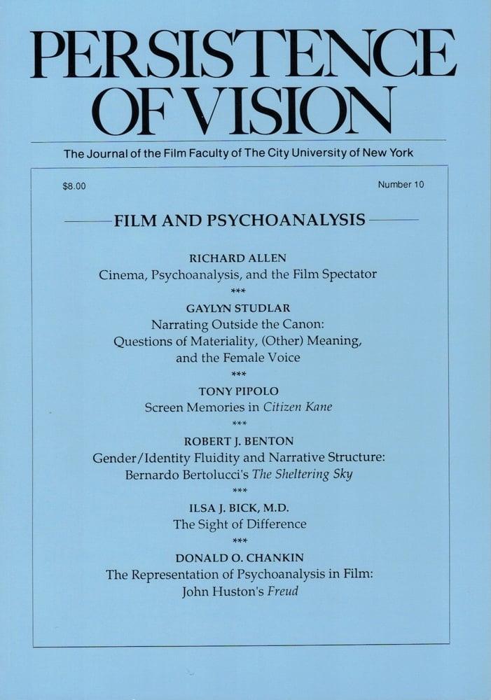 Image of Persistence of Vision No. 10: Film and Psychoanalysis (1993)