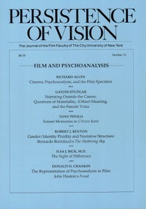 Image of Persistence of Vision No. 10: Film and Psychoanalysis (1993)