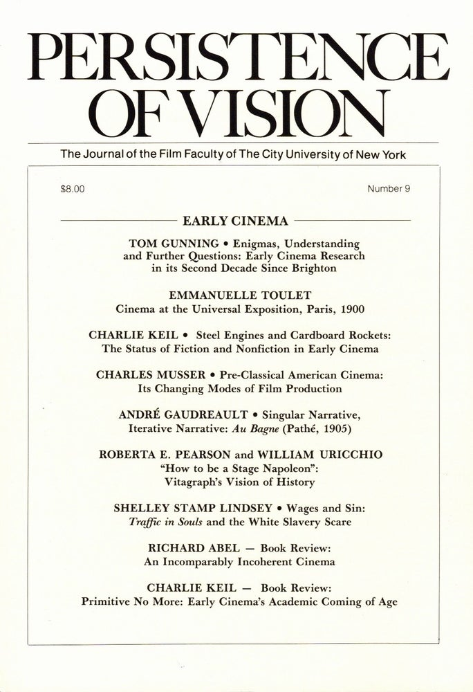 Image of Persistence of Vision No. 9: Early Cinema (1991)