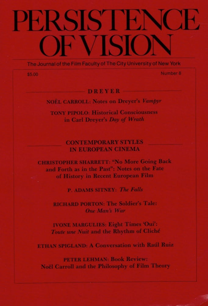 Image of Persistence of Vision No. 8: Dreyer + Contemporary Styles in European Cinema (1990)
