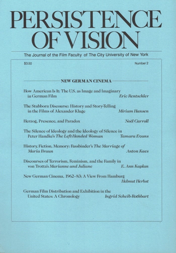 Image of Persistence of Vision No. 2: New German Cinema (1985)