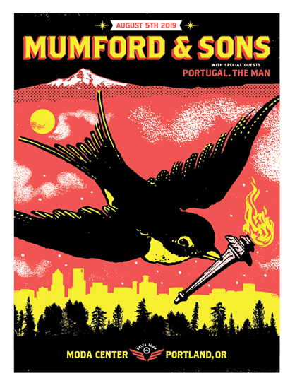 Image of Mumford and Sons - 8.05.19 Portland poster AP
