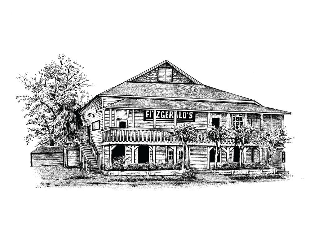Image of Fitzgerald's - 8.5x11 print