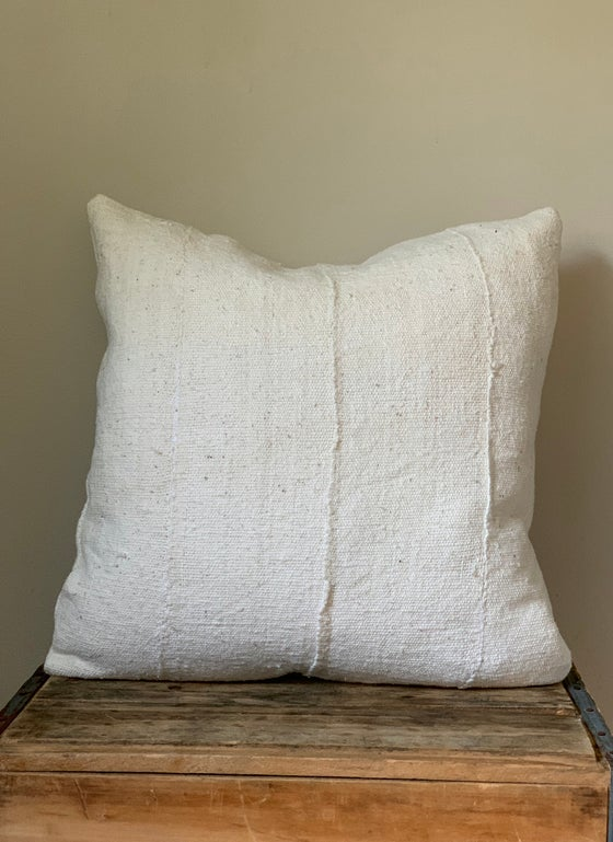 Image of White Mudcloth Pillow