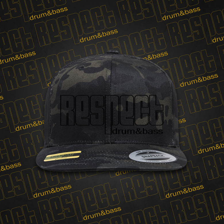 Image of RESPECT Multicam - Black Camo Snapback / Trucker Hat