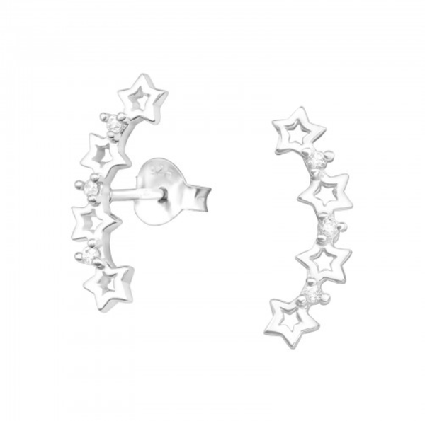 Image of Astraea star ear crawler earrings (sterling silver)