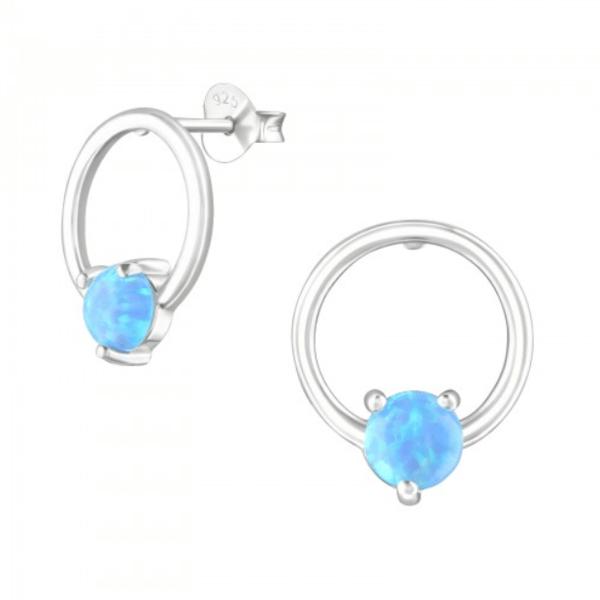 Image of Galene opal stud earrings (sterling silver)