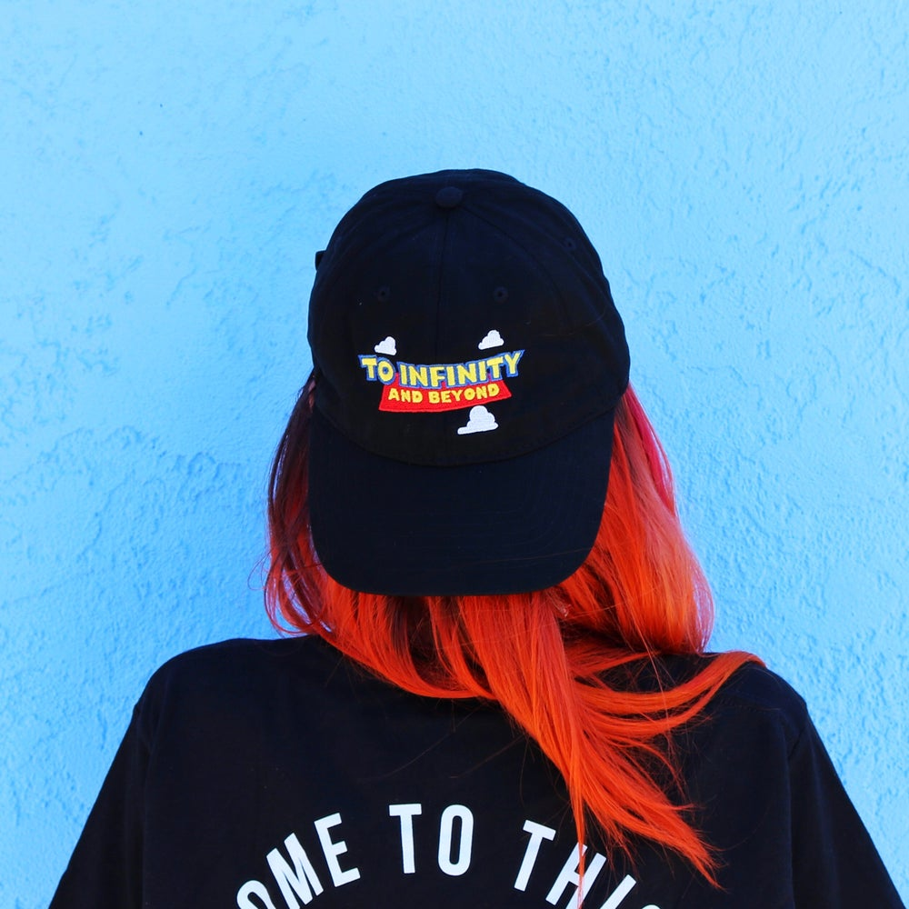 Image of To Infinity Dad Hat Black
