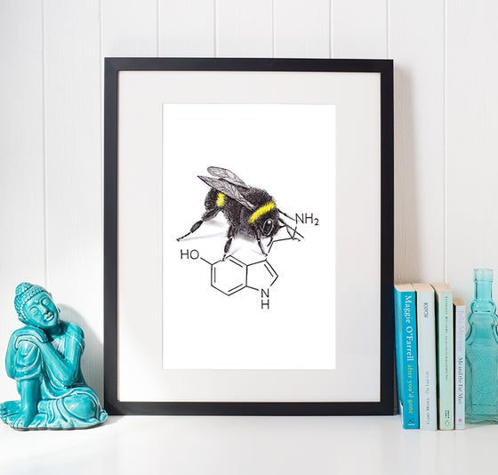 Image of Bee Happy - limited edition print and Thank-You cards