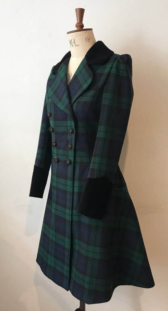 Image of Little tartan riding coat
