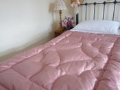 Image of Rose silk single eiderdown--ready to go