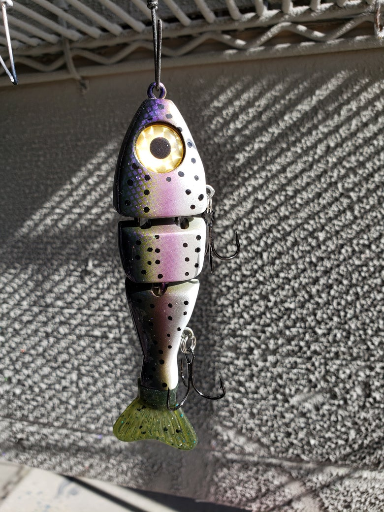 Image of 5 inch stubby. Purple Trout.